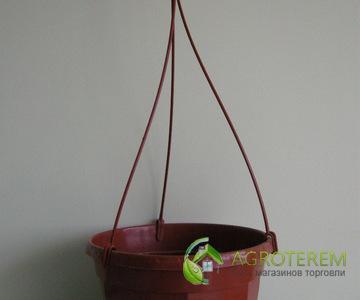 Горшок с подвесом 14 коричневый