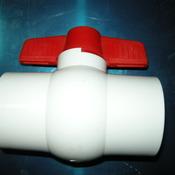 Кран белый для труб 1