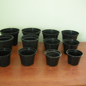 Горшок для растений (18 см х 13,5 см) 2,5 л